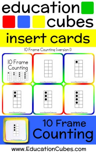 Education Cubes 10 Frame Counting insert cards