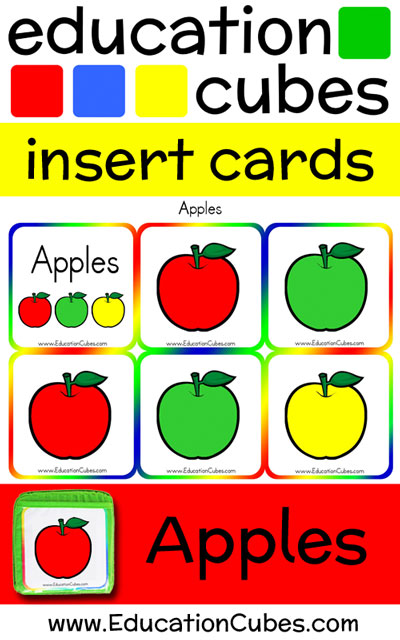 Apples Education Cubes insert cards