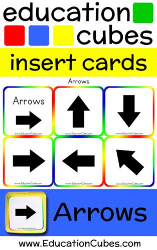 Arrow Education Cubes insert cards