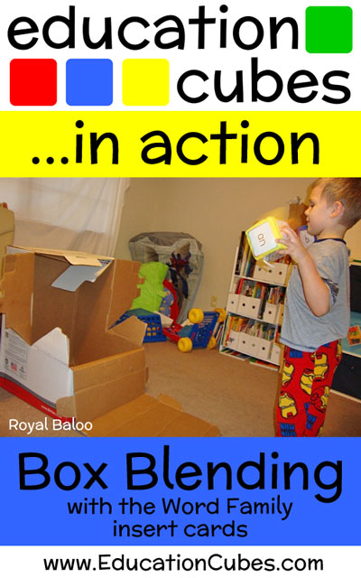 Box Blending Word Families with Education Cubes