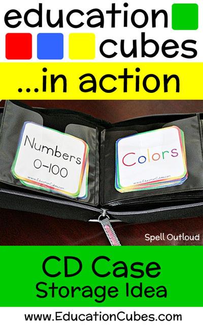 Education Cubes CD Case Storage Idea