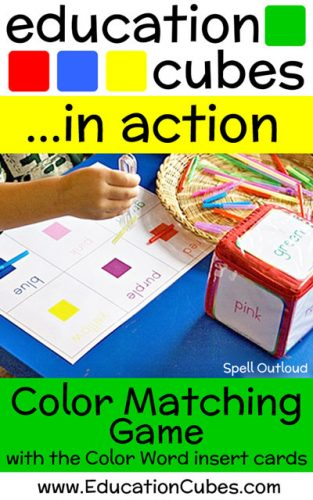 Education Cubes Color Matching Game