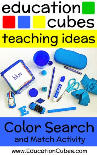 Education Cubes Color Search and Match Activity