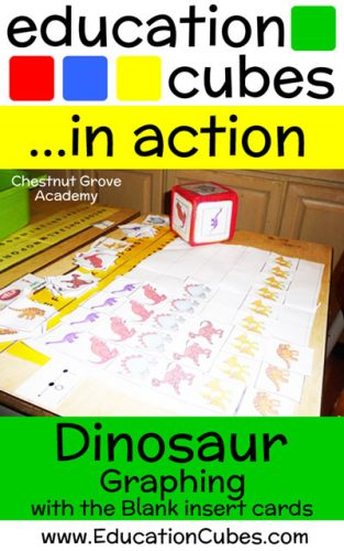 Dinosaur Graphing with Education Cubes