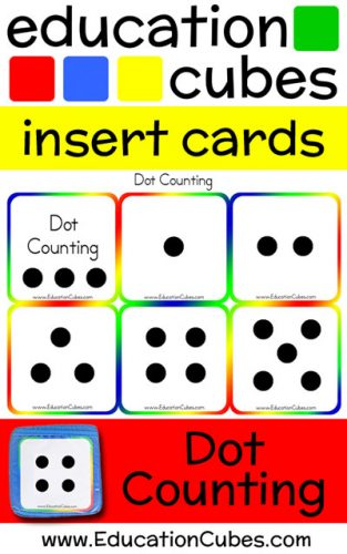 Education Cubes Dot Counting insert cards
