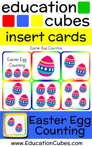 Education Cubes Easter Egg Counting insert cards