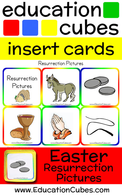 Education Cubes Easter Resurrection Pictures insert cards