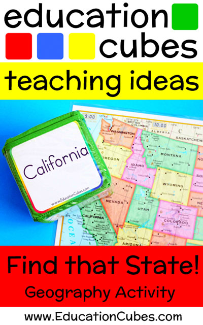 Education Cubes Find that State Geography Activity