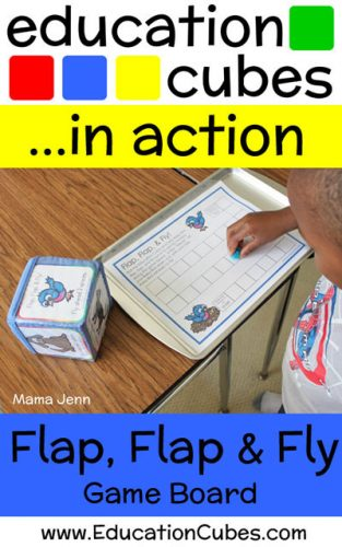 Flap Flap and Fly Game with Education Cubes