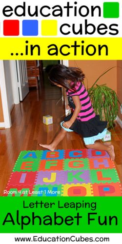 Letter Leaping Alphabet Fun with Education Cubes