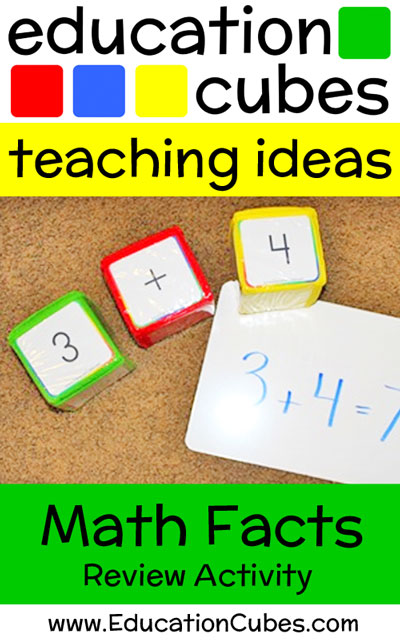 Education Cubes Math Facts Review Activity