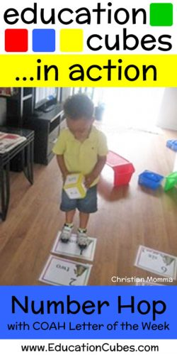 Education Cubes Number Hop with COAH Letter of the Week