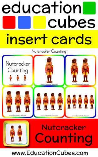 Education Cubes Nutcracker Counting insert cards