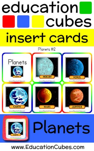Education Cubes Planets v2 insert cards