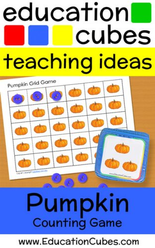 Education Cubes Pumpkin Counting Game