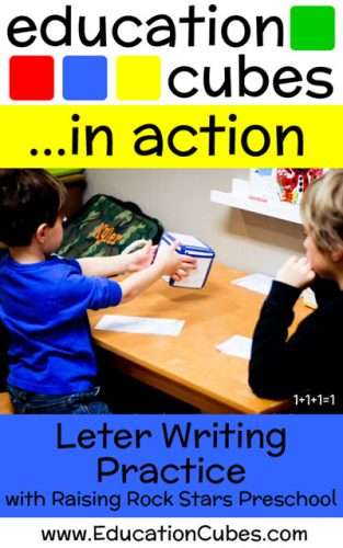 RRSP Letter Writing Practice with Education Cubes