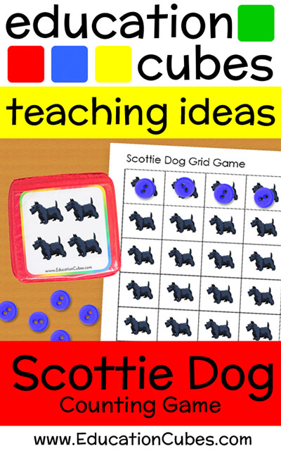 Scottie Dog Game with Education Cubes