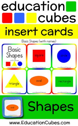 Education Cubes Shapes insert cards