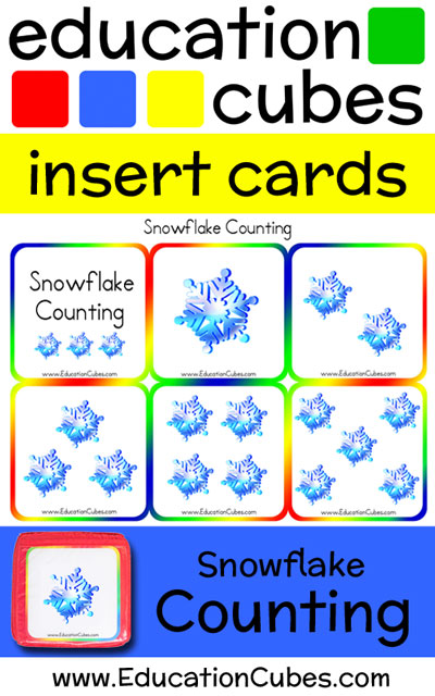 Education Cubes Snowflake Counting insert cards