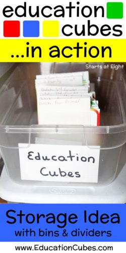 Education Cubes Storage Idea Plastic Bin Dividers
