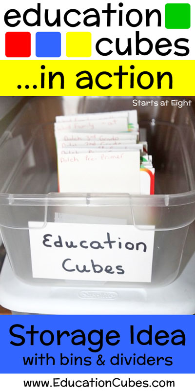 Education Cubes Storage Idea Plastic Bin Dividers