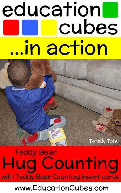 Education Cubes Teddy Bear Hug Counting Game