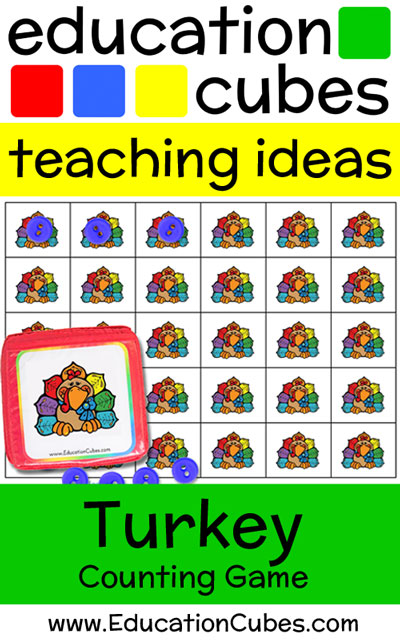Turkey Counting with Education Cubes