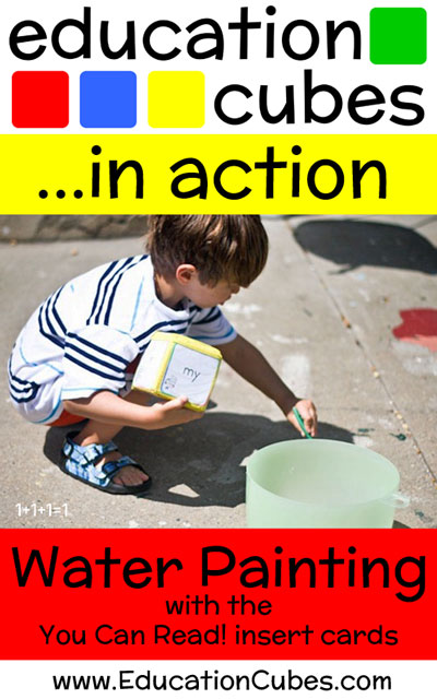 Water Painting Words with Education Cubes