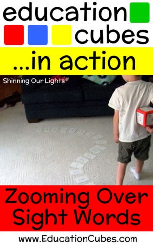 Zooming Over Sight Words with Education Cubes