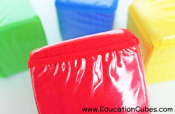 Education Cubes photo blocks close up
