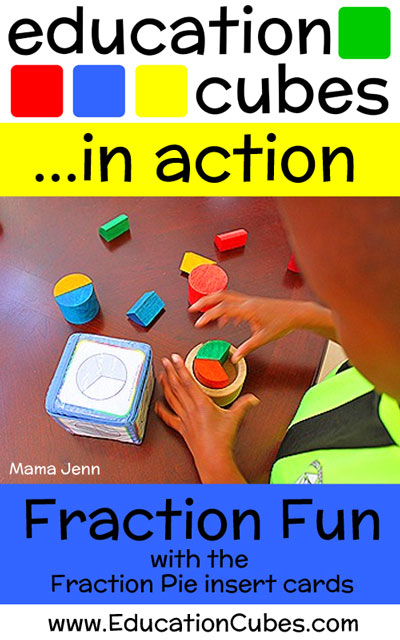 Fraction Pie Fun with Education Cubes