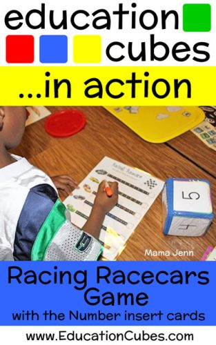 Racing Racecars Game with Education Cubes